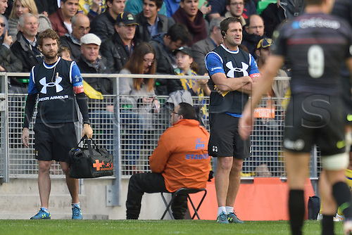18.04.2015. Clermont-Ferrand, Auvergne, France. Champions Cup rugby semi-final between ASM Clermont and Saracens.   Franck Azema (trainer asm)