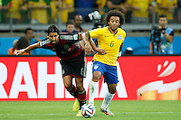 Marcelo of Brazil and Sami Khedira of Germany