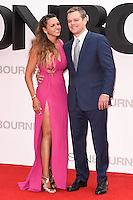 "Matt Damon and wife, Luciana Barroso<br /> arrives for the ""Jason Bourne"" premiere at the Odeon Leicester Square, London.<br /> <br /> <br /> ©Ash Knotek  D3139  11/07/2016"