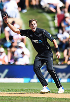 Blackcaps Tim Southee during the 4th ODI Blackcaps v England. University Oval, Dunedin, New Zealand. Wednesday 7 March 2018. ©Copyright Photo: Chris Symes / www.photosport.nz