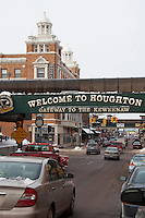 Down town Houghton Michigan in winter.