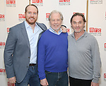 Darren Goldstein, Michael McKean and Richard Thomas attends the cast photo call for the Manhattan Theatre Club's New Broadway Production of 'The Little Foxes' at the MTC Rehearsal studios on February 27, 2017 in New York City.