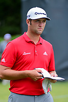 Jon Rahm (ESP) departs the number 1 green during round 4 of the Dean &amp; Deluca Invitational, at The Colonial, Ft. Worth, Texas, USA. 5/28/2017.<br /> Picture: Golffile | Ken Murray<br /> <br /> <br /> All photo usage must carry mandatory copyright credit (&copy; Golffile | Ken Murray)