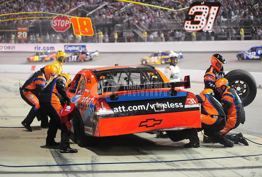 May 3, 2008; Richmond, VA, USA; NASCAR Sprint Cup Series driver Jeff Burton pits during the Dan Lowry 400 at the Richmond International Raceway. Mandatory Credit: Mark J. Rebilas-US PRESSWIRE
