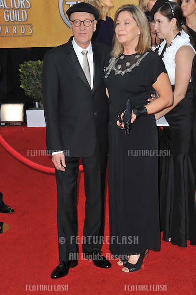 Geoffrey Rush & wife at the 17th Annual Screen Actors Guild Awards at the Shrine Auditorium..January 30, 2011  Los Angeles, CA.Picture: Paul Smith / Featureflash