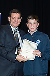St Johnstone FC Youth Academy Presentation Night at Perth Concert Hall..21.04.14<br /> Chairman Steve Brown presents to Ben Ragan<br /> Picture by Graeme Hart.<br /> Copyright Perthshire Picture Agency<br /> Tel: 01738 623350  Mobile: 07990 594431