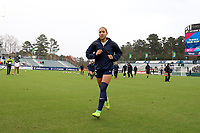 Cary, North Carolina  - Saturday March 24, 2018: Jaelene Hinkle prior to a regular season National Women's Soccer League (NWSL) match between the North Carolina Courage and the Portland Thorns FC at Sahlen's Stadium at WakeMed Soccer Park. The Courage won the game 1-0.