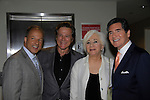 Fox News Nick Gregory and Ernie Anastos (R) pose with Frank Dicopoulos (Guiding Light) and actress Olympia Dukakis (Search for Tomorrow) at Loukoumi & Friends Concert held on June 23, 2014 at the Scholastic Theatre, New York City, New York. Proceeds will benefit The Loukoumi Make a Difference Foundation. Foundation first project will be the Make A Difference with Loukoumi television special airing on FOX stations Oct 19-20. (Photo by Sue Coflin/Max Photos)