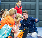 ROTTERDAM  - NK Zaalhockey,   halve finale dames Laren-Den Bosch.  coach laren Tijs Roozendaal (Laren)      COPYRIGHT KOEN SUYK