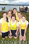 Muckross Minor Girls Crew from left Roisin Ray, Shona O'Sullivan, Niamh Cagney, Alannah Graney, Ali Shaw and Cara O'Connor pictured at Killarney Regatta at O'Mahonys point, Killarney on Sunday.