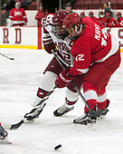 Devin Tringale (Harvard - 22), Connor Murphy (Cornell - 12) - The Harvard University Crimson defeated the visiting Cornell University Big Red on Saturday, November 5, 2016, at the Bright-Landry Hockey Center in Boston, Massachusetts.