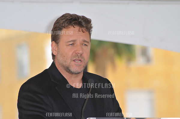 Russell Crowe on Hollywood Boulevard where he was honored with the 2,404th star on the Hollywood Walk of Fame..April 12, 2010  Los Angeles, CA.Picture: Paul Smith / Featureflash