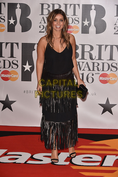 LONDON, ENGLAND - FEBRUARY 24: Louise Rednapp attends the BRIT Awards 2016 at The O2 Arena on February 24, 2016 in London, England<br /> CAP/PL<br /> &copy;Phil Loftus/Capital Pictures