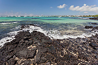 Coastline on the Island of Santa Cruz, Galapagos Islands, Ecuador.