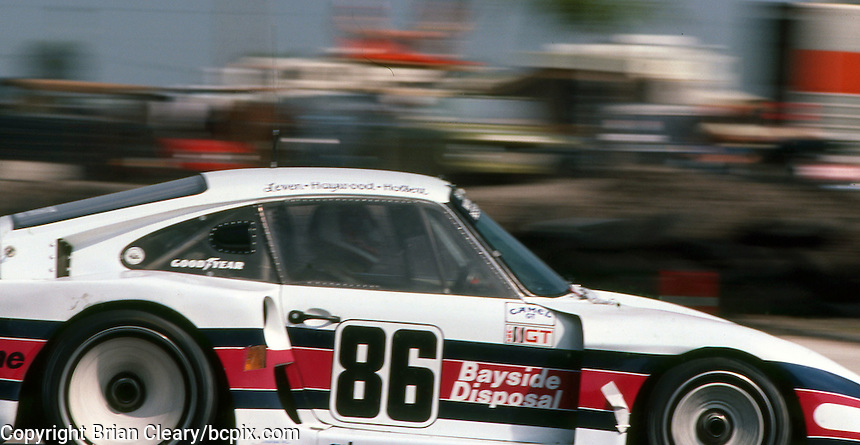 The #86 Bayside Disposal Racing Porsche 935 of Hurley Haywood and Al Holbert races to a 3rd place finish at  the 12 Hours of Sebring endurance sports car race, March 19, 1983.  (Photo by Brian Cleary/www.bcpix.com)