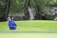 Nacho Elvira (ESP) chips from a bunker onto the 10th green during Friday's storm delayed Round 2 of the Andalucia Valderrama Masters 2018 hosted by the Sergio Foundation, held at Real Golf de Valderrama, Sotogrande, San Roque, Spain. 19th October 2018.<br /> Picture: Eoin Clarke | Golffile<br /> <br /> <br /> All photos usage must carry mandatory copyright credit (&copy; Golffile | Eoin Clarke)