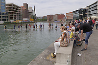 M&uuml;nster, Germany. Opening days of Skulptur Projekte 2017.<br /> Ayşe Erkmen: On Water [Auf dem Wasser], 2017