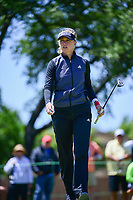 Jessica Korda (USA) after sinking her putt on 1 during round 4 of  the Volunteers of America Texas Shootout Presented by JTBC, at the Las Colinas Country Club in Irving, Texas, USA. 4/30/2017.<br /> Picture: Golffile | Ken Murray<br /> <br /> <br /> All photo usage must carry mandatory copyright credit (&copy; Golffile | Ken Murray)