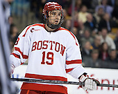 Matt Nieto (BU - 19) - The Northeastern University Huskies defeated the Boston University Terriers 3-2 in the opening round of the 2013 Beanpot tournament on Monday, February 4, 2013, at TD Garden in Boston, Massachusetts.