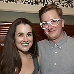 Lauren Worsham and Kyle Jarrow attends the DGF Salon with Kyle Jarrow on November  1, 2018 at The Uterbetg Residence in New York City.
