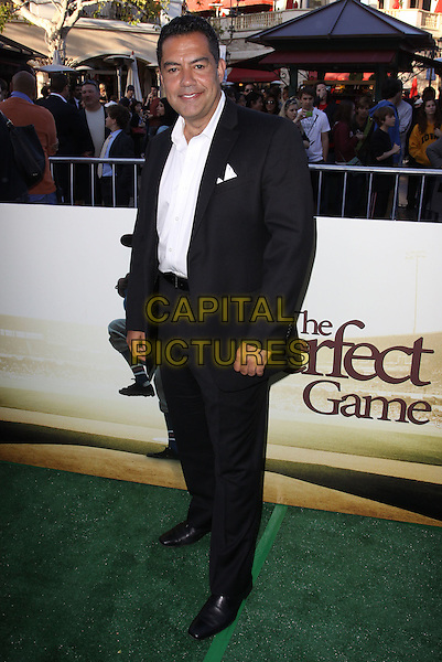 "CARLOS GOMEZ.""The Perfect Game"" Los Angeles Premiere held At The Pacific Theaters at the Grove, Los Angeles, California, USA..April 5th, 2010.full length black white suit shirt  .CAP/ADM/KB.©Kevan Brooks/AdMedia/Capital Pictures."