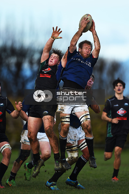 NELSON, NEW ZEALAND - JUNE 24: Division 1 Club Rugby Kahurangi v Nelson at Cook`s Reserve, Riwaka on June 24, 2017 in Nelson, New Zealand. (Photo by: Chris Symes/Shuttersport Limited)