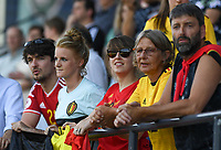 20190601 - LEUVEN , BELGIUM : Belgian fans and supporters pictured during the female soccer game between the Belgian Red Flames and Thailand , a friendly game as a preparation for Thailand for the World Championship in France 2019, Saturday 1 th June 2019 at OHL Stadion Den Dreef in Leuven , Belgium. PHOTO SPORTPIX.BE | DAVID CATRY