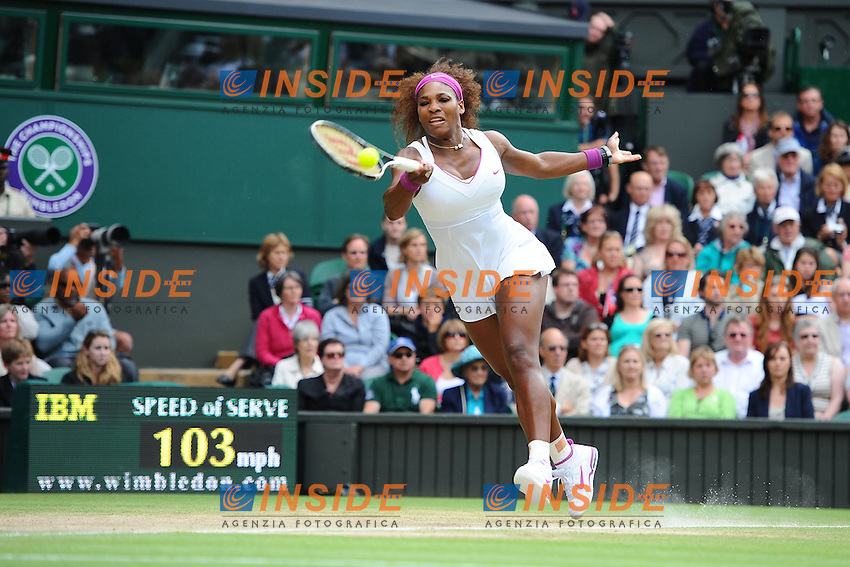 Serena Williams (USA) .Wimbledon ( Londra ) 7/7/2012 Tennis.Grande Slam Finale Donne.Foto Insidefoto / Panoramic.ITALY ONLY