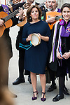 "Soraya Saenz de Santamaria with ""La Tuna"" during award ceremony of literature in Spanish ""Miguel de Cervantes"" at University of Alcala de Henares in Madrid., April 20, 2017. Spain.<br /> (ALTERPHOTOS/BorjaB.Hojas)"