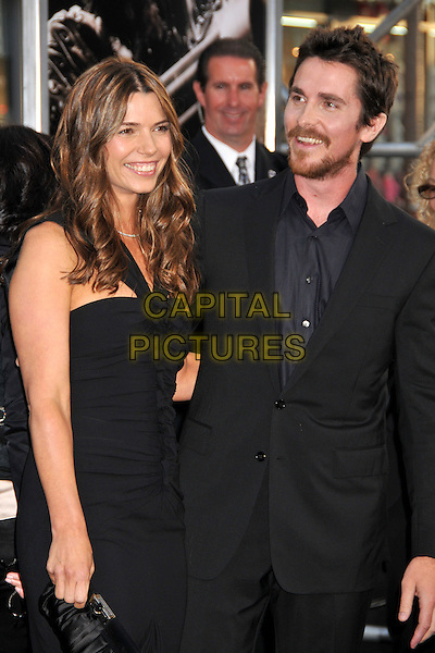 """SIBI BLAZIC & CHRISTIAN BALE.The Warner Brothers Pictures U.S. Premiere of """"Terminator Salvation"""" held at The Grauman's Chinese Theatre in Hollywood, California, USA. .May 14th, 2009 .half length married husband wife dress suit black beard facial hair.CAP/ADM/BP.©Byron Purvis/AdMedia/Capital Pictures."""