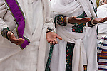 Israel, Jerusalem. Israel, Jerusalem. A prayer at the Jewish Ethiopian annual Sigd festival, November 2004<br />