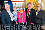 Killorglin Areas Services building in Library Place was officially named after former TD Timothy 'Chub' O'Connor on Friday last. <br /> Pictured are his family, Patrick O'Connor Evelyn Kelliher nee O'Connor, Rita Thompson nee O'Connor, John Flynn (South and West area manager), Mayor of S&amp;W, Mike O'Shea and Eileen 'Chub' O'Connor.