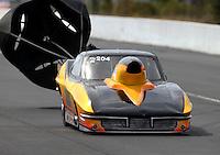 Mar 13, 2015; Gainesville, FL, USA; NHRA top sportsman driver Ronnie Davis during qualifying for the Gatornationals at Auto Plus Raceway at Gainesville. Mandatory Credit: Mark J. Rebilas-