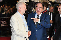 "Jeremy Corbyn and Oliver Stone<br /> at the London Film Festival 2016 premiere of ""Snowden"" at the Odeon Leicester Square, London.<br /> <br /> <br /> ©Ash Knotek  D3181  15/10/2016"