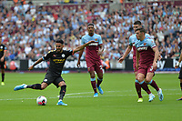 Riyad Mahrez of Manchester City shoots  during West Ham United vs Manchester City, Premier League Football at The London Stadium on 10th August 2019