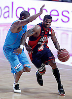 Asefa Estudiantes' Jayson Granger (l) and Caja Laboral Baskonia's Omar Cook during Liga Endesa ACB match.January 6,2012. (ALTERPHOTOS/Acero) /NortePhoto