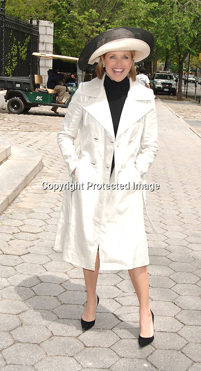 Katie Couric ..at The 24th Annual Frederick Law Olmsted Awards Luncheon on May 3, 2006 at The Central Park's Conservatory Garden presented by the Women's Committee of the Central Park Conservancy. ..Robin Platzer, Twin Images