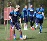Tom Lang training at Rangers