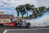 Jun 6, 2015; Englishtown, NJ, USA; NHRA top fuel driver Steve Torrence during qualifying for the Summernationals at Old Bridge Township Raceway Park. Mandatory Credit: Mark J. Rebilas-