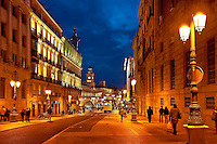 Alcala street and Puerta del Sol, Madrid, Spain