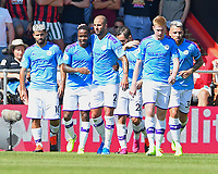 Raheem Sterling of Manchester City is congratulated after scoring the second goal during during AFC Bournemouth vs Manchester City, Premier League Football at the Vitality Stadium on 25th August 2019