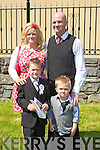 Luke Pullen with his Family Sean, Karen and Clive Pullen after his Holy Communiuon on Saturday in St John's Church, Tralee................................... ....