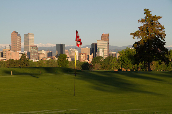 Downtown skyline from City Park, Denver, Colorado, USA. .  John offers private photo tours in Denver, Boulder and throughout Colorado. Year-round Colorado photo tours.