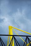 09.03.2019, Signal Iduna Park, Dortmund, GER, 1.FBL, Borussia Dortmund vs VfB Stuttgart, DFL REGULATIONS PROHIBIT ANY USE OF PHOTOGRAPHS AS IMAGE SEQUENCES AND/OR QUASI-VIDEO<br /> <br /> im Bild   picture shows:<br /> Pelone des Signal Iduna Parks im Kontrast zum nahenden Hagelsturm, <br /> <br /> Foto &copy; nordphoto / Rauch