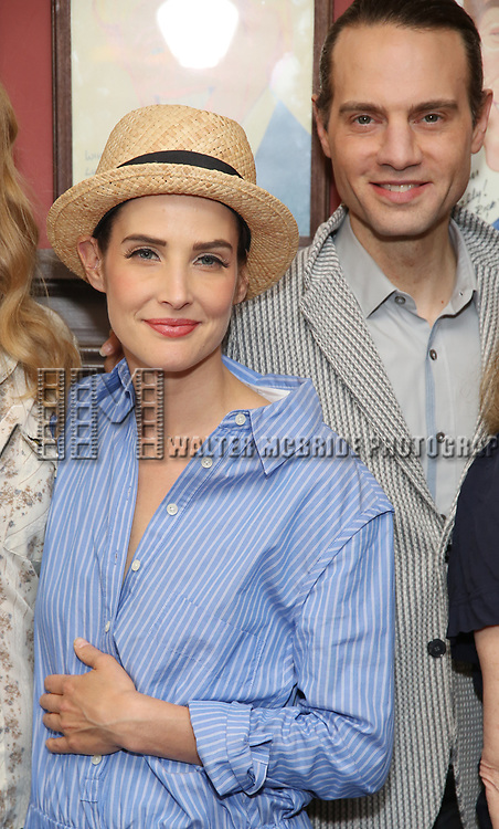 Cobie Smulders abd Jordan Roth attends the Sardi's Caricature Unveiling for Kate Burton joining the Legendary Wall of Fame at Sardi's on June 28, 2017 in New York City.