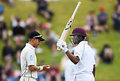 3rd December 2017, Wellington, New Zealand;  Shimron Hetmyer 50 not out.<br /> Day 3. New Zealand Black Caps v West Indies. 1st test match of the ANZ International Cricket Season 2017/18 season. Basin Reserve, Wellington,