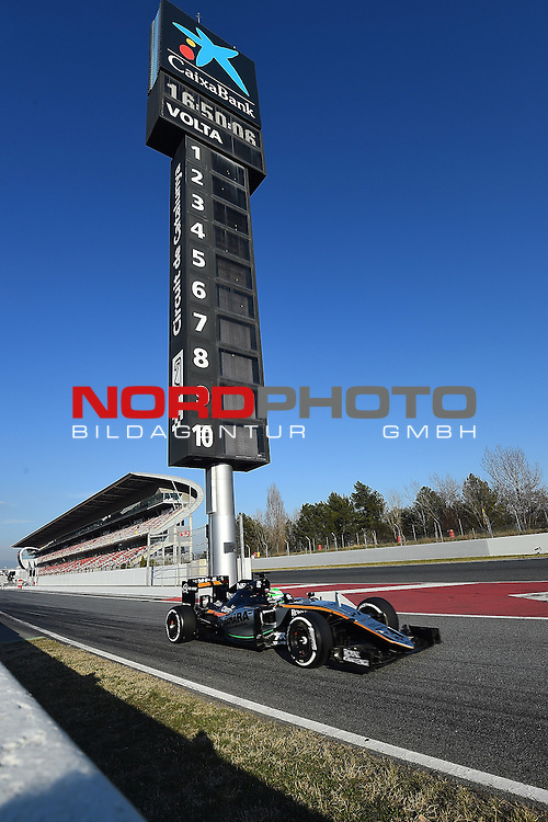 Formel 1 Testfahrten 2016 in Barcelona<br /> Niko H&uuml;lkenberg (GER#27), Sahara Force India Formula One Team<br /> <br /> <br /> Foto &copy; nordphoto /  Bratic