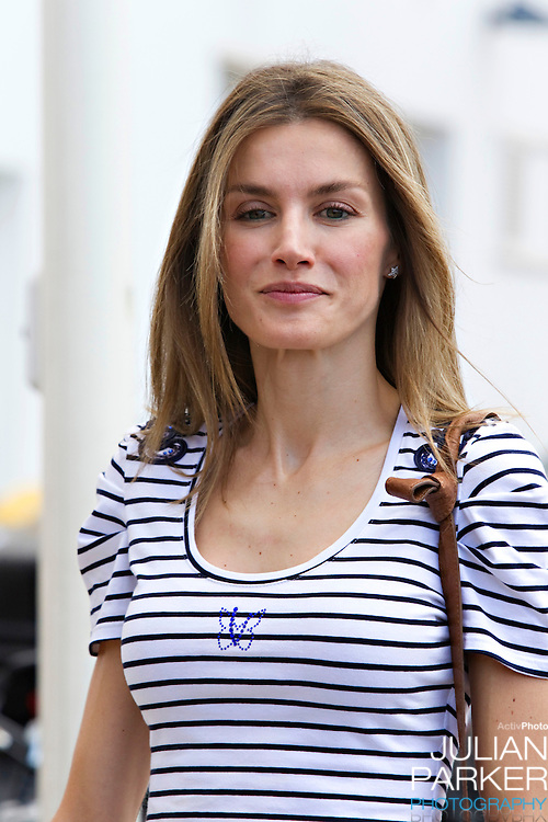 Crown Princess Letizia of Spain visits The Royal Yacht Club, in Palma, Mallorca on the 5th day of the Copa Del Rey sailing regatta