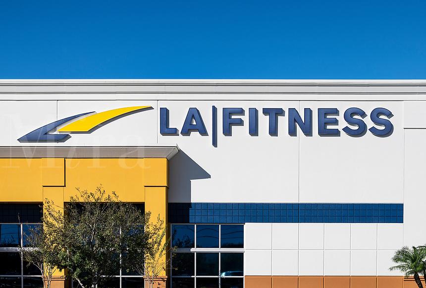 LA Fitness club exterior, Orlando, Florida, USA.