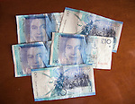Ten Pound notes Gibraltar, British terroritory in southern Europe